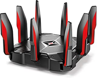TP-Link AC5400 Tri Band Gaming Router - Anti-Virus, MU-MIMO, CPU Quad-Core de 64 GHz a 1.8 GHz, Prioridad de Juego, Almace...