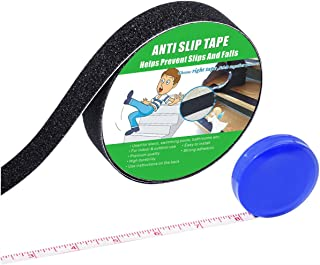 Anti Slip Tape , High Traction,Strong Grip Abrasive , Not Easy Leaving Adhesive Residue , Indoor & Outdoor, with Measuring Tape (1