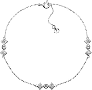 Leg Avenue .925 Sterling Silver 2.00MM Polished Hearts /& Peace Sign Anklet Bracelet 9 inches