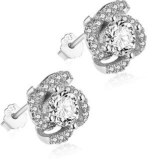 925 Sterling Silver Earrings, Swarovski Zircon - Women's Earrings