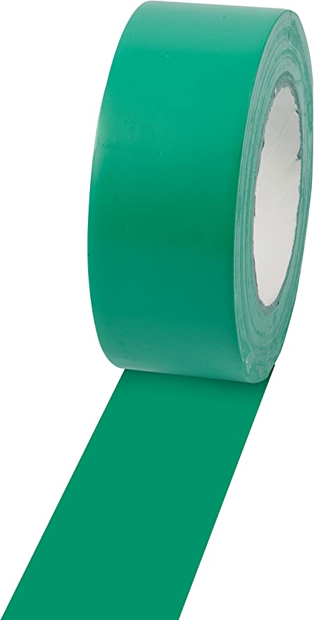 Champion Sports Floor Marking Vinyl Tape for Athletics and Social Distancing - Multiple Colors and Lengths
