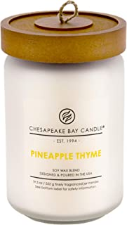 Chesapeake Bay Candle PT41320 Scented Candle, Pineapple Thyme, Large Jar