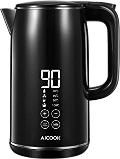 Smart Temperature Control Kettle, AICOOK Kettle With Intelligent One Touch LED Display, Keep Warm Function & Safety Off, 2...