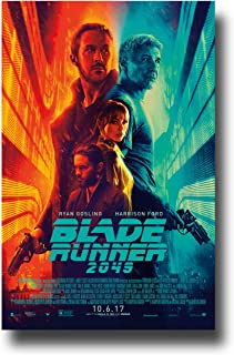 Blade Runner 2049 Poster Movie Promo 11 x 17 inches Ryan Gosling Harrison Ford Red Blue