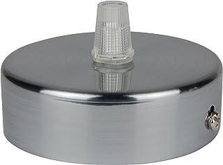 Florón cepillado | embellecedor para lámpara de techo, suspensor estándar tamaño m10, 80x25 mm | embellecedor para lámpara de techo | incl. pasacables/prisionero para fácil montaje | Buchenbusch Urban Design (1 unidad)