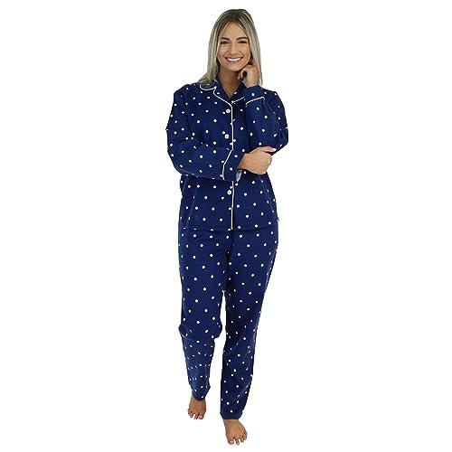 63c211946 PajamaMania Women's Sleepwear Flannel Long Sleeve Pajamas PJ Set