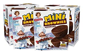 Little Debbie Mini Brownies, 4 Boxes Travel Size, 9.75 Ounce (Pack of 4)