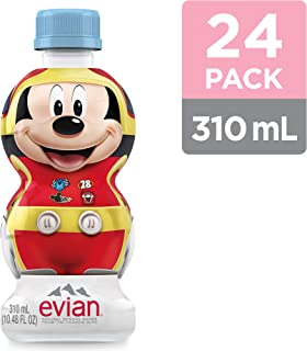 evian Natural Spring Water Disney Junior Mickey and the roadster Racer Edition, 10.48 Fl Oz (Pack of 24)