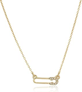 Rebecca Minkoff Safety Pin Delicate Pendant Necklace