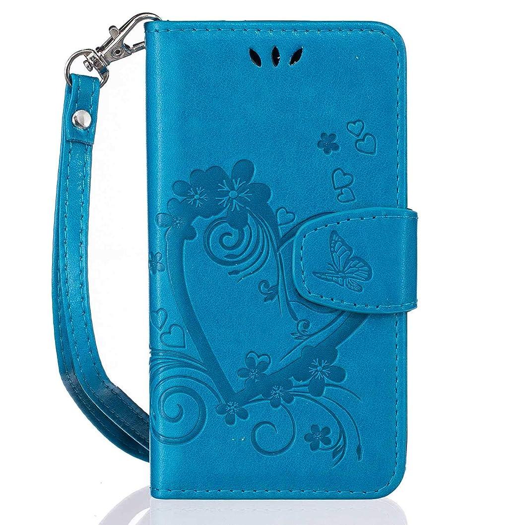 誕生腕上げるCUSKING Galaxy J1 2016 対応 手帳型 ケース, PUレザー 手帳ケース, Samsung Galaxy J1 2016 衝撃吸収 保護ケース 財布型 ケース スタンド機能 カード ポケット 付き, ブルー