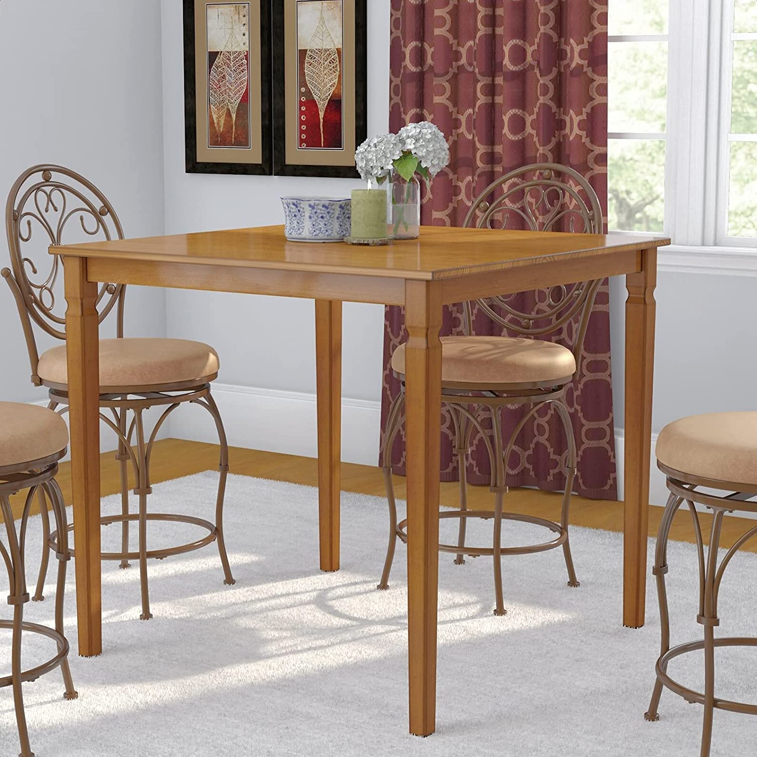 Trenton Counter Long Manufacturer regenerated product Beach Mall Height Solid Wood 39'''' Dining Table Overall: