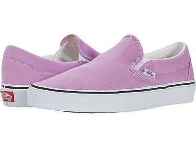 Vans Classic Slip-On (Orchid/True White) Skate Shoes