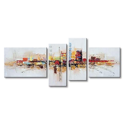SUPERB LONDON CITYSCAPE ARTWORK CANVAS PICTURE MODERN ART HOME DECOR PAINTING