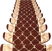 JIAJUAN Stair Carpet Treads Non-Slip Self-Sticking Solid Wood Stairs Step Pads, 5 Styles, 4 Sizes, Customize (Color : E-1 ...