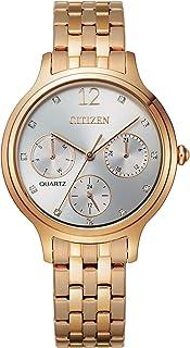 Citizen Women's Quartz Stainless Steel Strap, Rose Gold, 14 Casual Watch (Model: ED8183-54A)