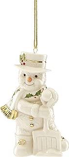 Lenox 884555 2019 Shoveling Snowman Ornament