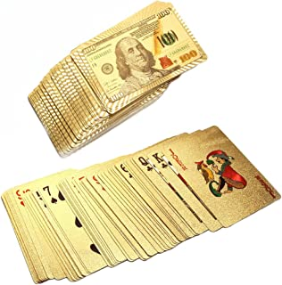 24k Gold Foil Plastic Waterproof Playing Cards Poker