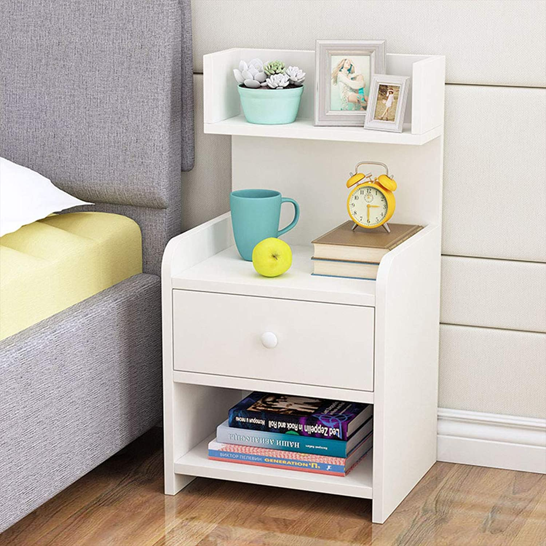 GJM Shop Multifunction Simple Bedside Table Simple Modern Mini Economic Type Bedroom Bedside Cabinet (color   3, Size   Single Drawer)