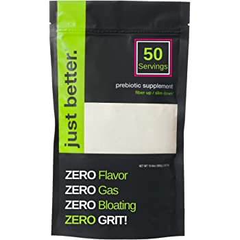 Prebiotic Fiber Supplement for a Healthy Gut | Fiber Powder with Zero Grit Zero Taste and No Bloating or Gas | Feel Full Faster | Keto Non-GMO Gluten Free Vegan 50 Servings