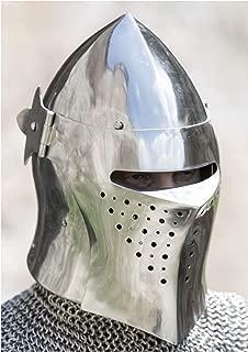 18 Gauge Medieval Visored Barbuta Armour Helmet Greek Roman Barbute European