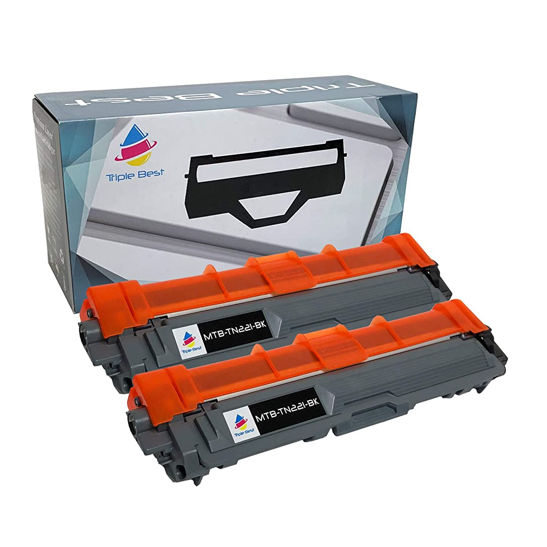 Triple Best Compatible Toner Cartridge Replacement for Brother TN-221BK TN221BK TN221 TN-221 HL-3140CW HL-3170CDW MFC-9130CW HL-3150CDW DCP-9020CDW MFC-9140CDN MFC-9330CDW MFC-9340CDW (2 Pack) thn04651912