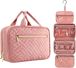 Sponsored Ad - Travel Makeup Organizer Bags for Women with Hanging Hook, Cute Cosmetic Bag