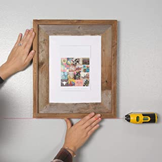 Picture Wall Art Rustic Barnwood 8 x 10 Picture Frame Plus a Free Laser Level!