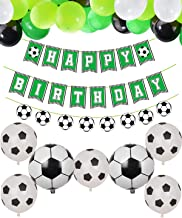 PIXHOTUL Soccer Party Supplies Soccer Happy Birthday Banners and 47 Pcs Soccer Theme Balloons for Kids, Boys, Soccer Fans Birthday Party