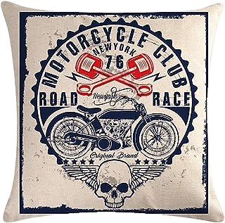 KUSTOM Factory - Cojín de calavera para moto vintage