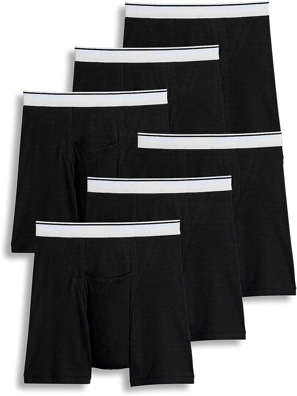 Jockey Men's Underwear Pouch Boxer Brief - 6 Pack