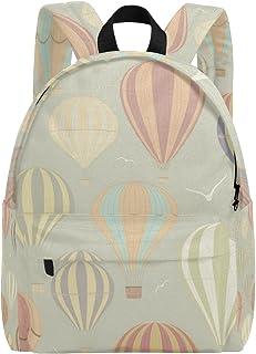 ba81b7bfff TIZORAX - Zaino leggero con mongolfiere, stile vintage, da viaggio, scuola,  per