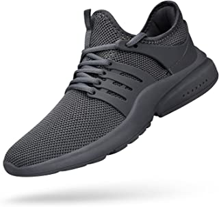 QANSI Men Sneakers Mesh Breathable Casual Running Shoes Ultra Lightweight Fashion Sneakers