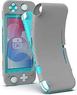 Nintendo Switch Lite ケース 全面保護カバー カバー Case シリコン素材 柔らかい 頑丈 軽量 耐衝撃 落下防止 ほこり防止 着脱簡単 Dodotop (gray)