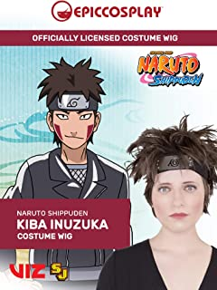 Epic Cosplay Wigs Licensed Naruto costume Wigs Kiba Inuzuka cosplay wig Blue Black hair for Naruto Shippuden Animation enthusiasts cosplay Officially Licensed by Viz Media (犬塚キバ)