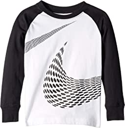 Gradient Stripe Swoosh Tee (Little Kids)