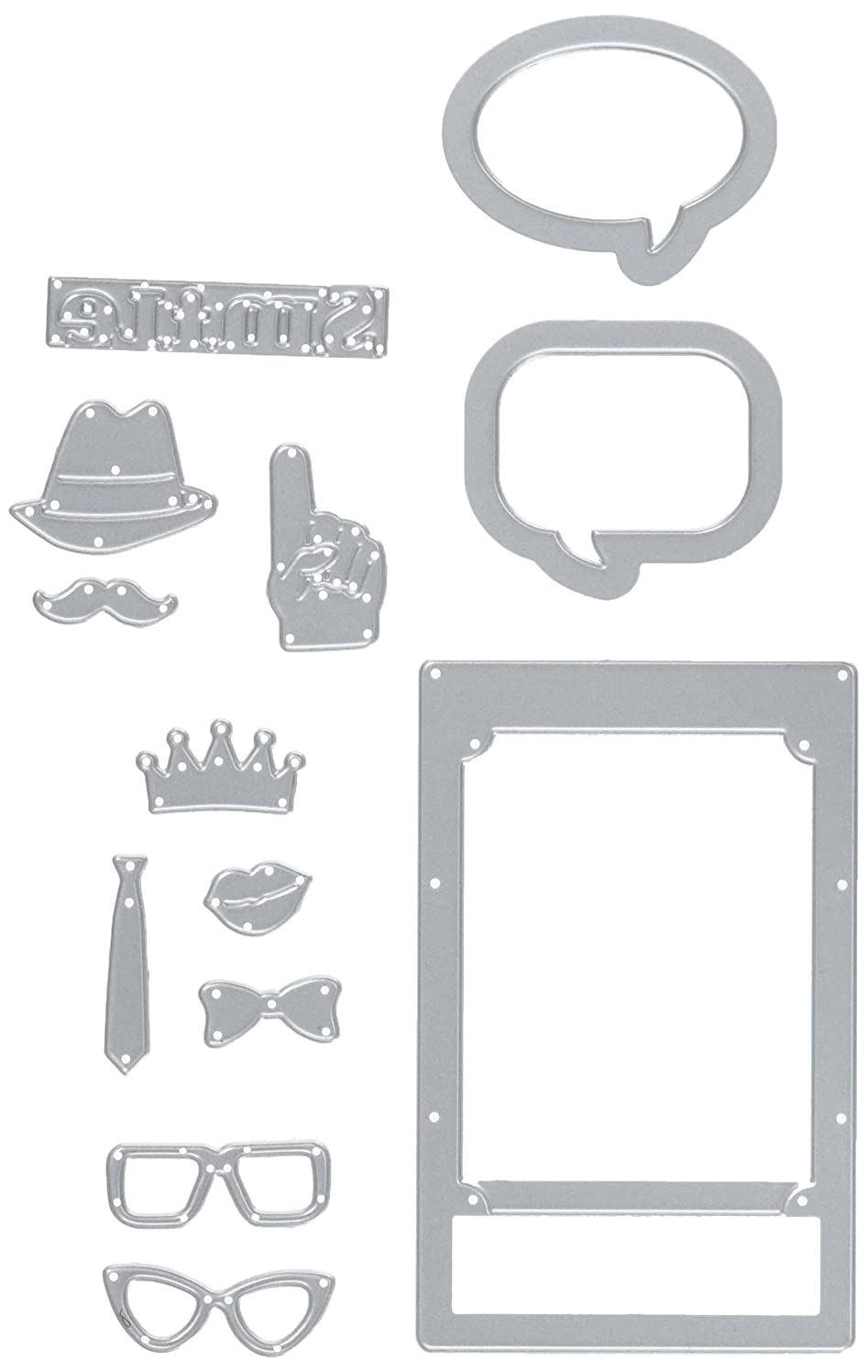 Sizzix 661400 Thinlits Die Set, Photo Frame and Props by Lynda Kanase (13-Pack)
