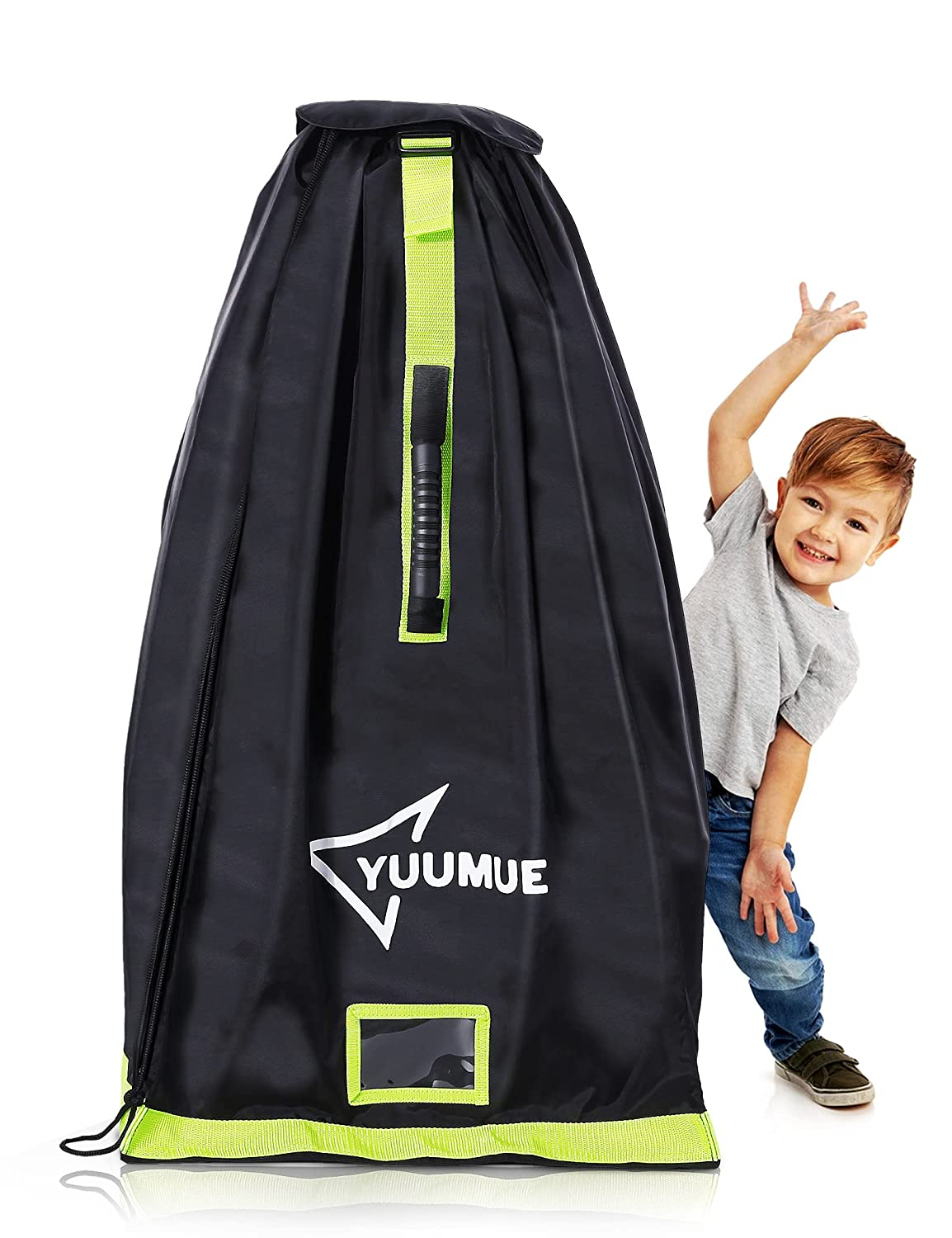 Yuumue Car Seat Travel Bag, Carseat Bag for Airplane Waterproof & Durable Adjustable Foldable Baby Straps, Easy Carry Gate Check Bag Protect to Transport Through The Airport