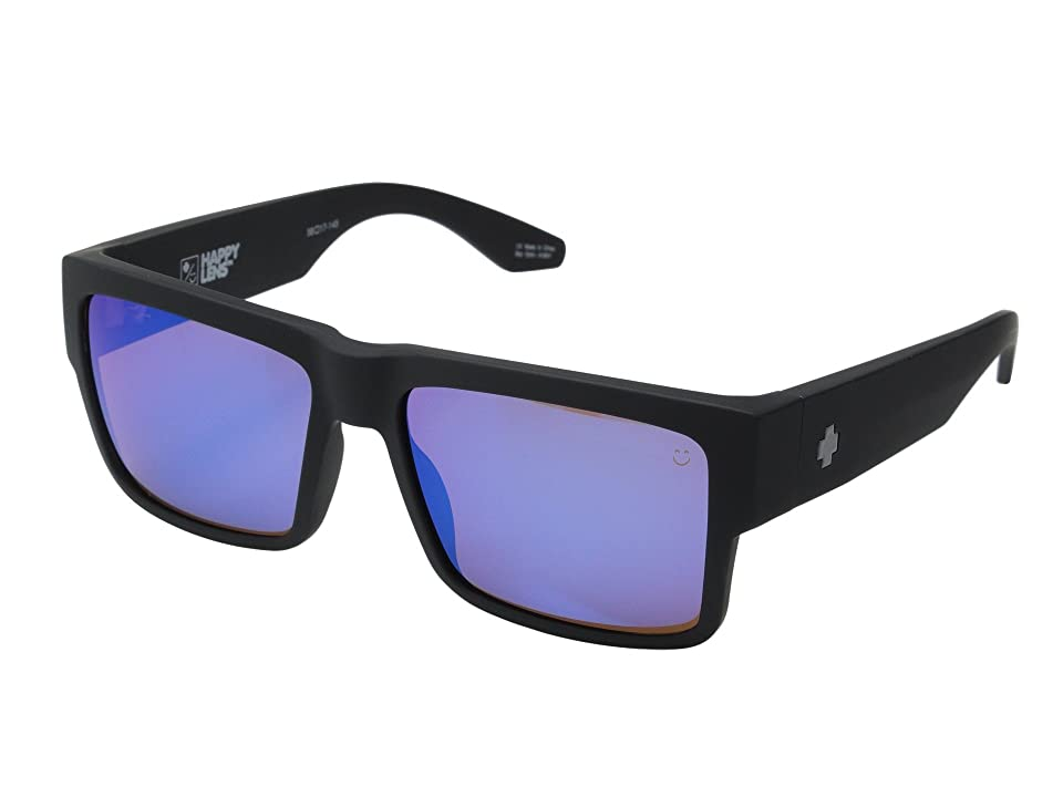 Spy Optic Cyrus (Soft Matte Black/Happy Bronze w/ Blue Spectra) Sport Sunglasses