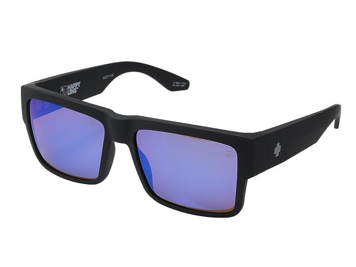 Spy Optic Cyrus (Cyrus Soft Matte Black HD Plus Bronze With Blue Spectra Mirror) Sport Sunglasses