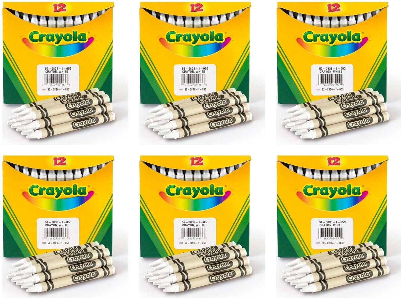 Directly managed store Crayola Regular Size Bulk excellence White Crayons 6-Pack 12 Pack