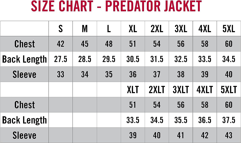 StrikerICE Predator Jacket, Warm Waterproof Fishing Jacket for Men with Sureflote Technology, Black XLT…
