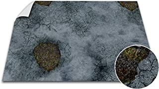 Battle Game Mat - 48x72 - Dungeons & Dragons Tabletop Role Playing Map - Wargaming DnD - RPG Dust Warfare & Flames of War - Miniature Figure Board Games - 40k Warhammer Gaming Vinyl (Road Decay)