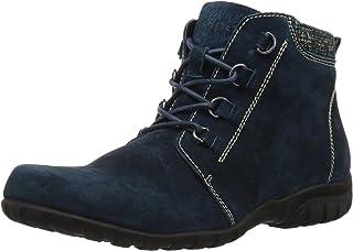 حذاء برقبة طويلة طويلة للكاحل من Propet للنساء، أزرق داكن، 6 عريض