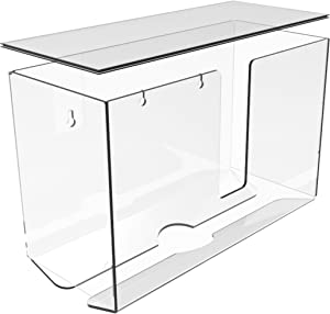 Cq acrylic Acrylic Paper Towel Dispenser,Folded Paper Towel Holder,Clear Guest Towel Napkin Holder, Suitable for Z-fold,Multifold Folded Trifold C fold and Trifold Paper Towels,Pack of 1