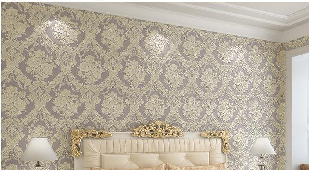 拾う判決遠近法YSYYSH 壁紙ヨーロッパの花壁紙3Dステレオ不織布壁紙リビングルームベッドルーム壁紙 壁ステッカー壁画 (Color : #1)