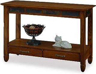 Slatestone Oak Storage Console Table - Rustic Oak Finish