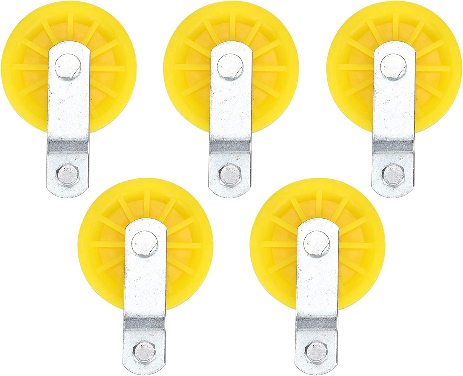 Livestock Pulley, 5Pcs Large Metal Hook Fixed Pulley, Fine Workm