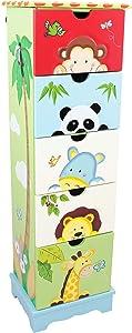 Meuble commode rangement table de chevet en bois tiroir chambre enfant TD-0031A