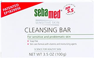 Sebamed Sensitive Skin Cleansing Bar 3 Pack (10.5 ounce) - Hypoallergenic and Dermatologist Recommended. No Detergents tha...