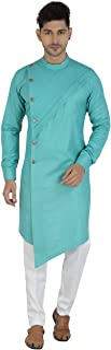 ARIA FABRICS Men's Cotton Silk Regular Straight Kurta